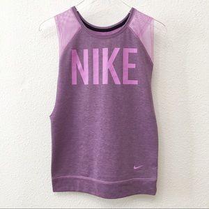 Nike mesh cutoff workout tank